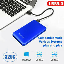 "2.5"" HDD External Hard Drive 1TB USB 3.0 SATA Portable Laptop Hard Disks Blue US"