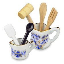 Reutter Porcelain Blue Onion Kitchen Utensil Set