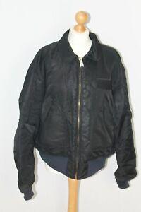 ALPHA INDUSTRIES Black Nylon Flyers CWU-45/P(N) Aviator Padded Jacket Coat XL