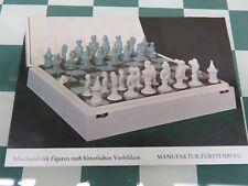 1947 Furstenburg Biscuit Porcelain Figures Chess Set w/Board in Case Germany