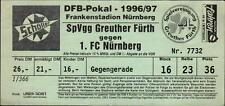 Ticket DFB-Pokal 96/97 SpVgg Greuther Fürth - 1. FC Nürnberg, Gegengerade