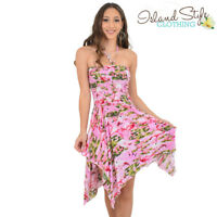 Pink Flamingo Loud Pixie Dress Ladies Hawaiian Party