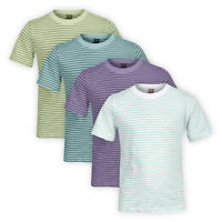 Boys Cotton Striped T-shirt Kids Children Short Sleeve Classic Casual Top 3y-8y