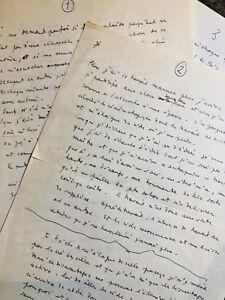 Jean COCTEAU / Manuscrit autographe. L'art, le Cinéma, Picasso, Rimbaud, l'opium