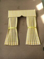 Pretty 1/12 Scale Dolls House Curtains - Yellow Gingham