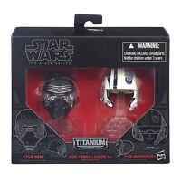 Kylo Ren Poe Dameron Force Awakens Star Wars Titanium Series Helmet Die Cast