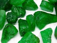 100cts++ lot loose beautiful rich green natural Colombian emerald rough gemstone