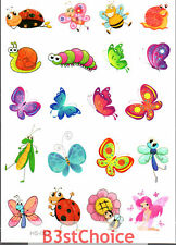 UK Colorful cute insect Girl Kid Party crystal shiny Glitter Temporary Tattoo