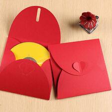 50 bustine busta custodia cuore regalo per CD e DVD In Carta 300gr Colore Rosso