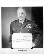 William Kean Autograph Lieutenant General Army World War I World War II Korea #2