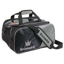 Brunswick Crown 2 Ball Tournament Tote Bowling Bag With Shoe Pocket Silver