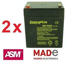 2 X Baterías de plomo AGM - 12V 4,5h - EnergiVm MV1245