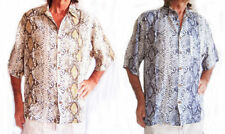 Rayon Collared Rockabilly Casual Shirts & Tops for Men