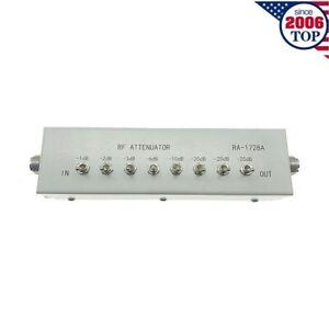NEW 0 - 82DB VARIABLE/ STEP ATTENUATOR 50 OHM for Ham Radio Transmitter etc-USA