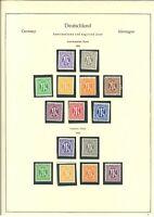 Spitzen Sammlung Bizone ** postfrisch mit Bauten enge Zähnung - Mi. 1300,-