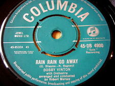 "BOBBY VINTON - RAIN RAIN GO AWAY    7"" VINYL"