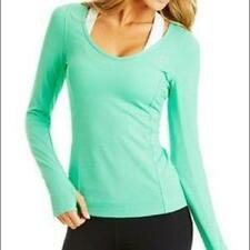 LORNA JANE~MINT TEAL *EMI EXCEL MESH* LONG SLEEVE SHIRT~SPORTS RUNNING TOP TEE~M