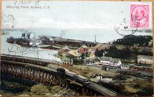 1907 Postcard: Shipping Piers - Sydney, Cape Briton, Nova Scotia, Canada