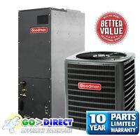 Goodman 1.5 Ton 14 SEER Heat Pump Split System GSZ140181+ARUF25B14 New Model!