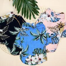Summer Pineapple Cat T Shirts Hawaiian Lightweight Pet Cat Vest Clothes Cotton