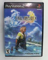 PS2 Final Fantasy X (Sony PlayStation 2, 2001) No Manual Tested