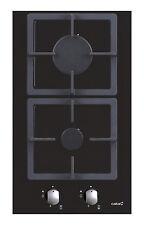 Gaskochfeld Domino 2-flammig, schwarzes Glas 30 cm.autark
