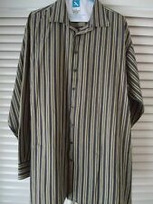 PERRY ELLIS PORTFOLIO Mens Shirt 2XT Big Tall Cotton Striped Long Sleeve Classy