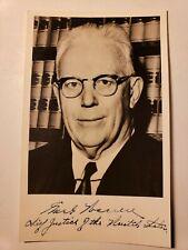 c.1965 SUPREME COURT CHIEF JUSTICE SIGNED PHOTO EARL WARREN - EX REAGAN ATTY