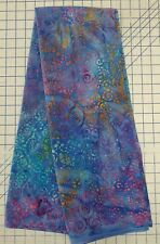 1 2/3 YARDS Bubble BATIK 100% Cotton Fabric Purple Blue Orange 44