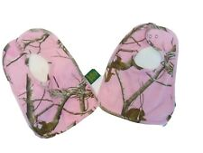 (2) Cabela's Pink RealTree Camo Burp Bib One Size 2-pack New Adjustable Snaps