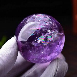 25-50mm Natural Amethyst Quartz Sphere Pretty Crystal Ball Healing Purple Stone