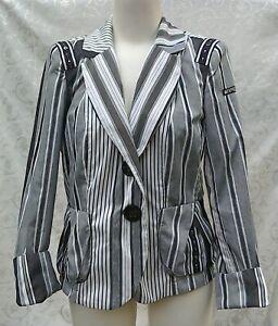 AIRFIELD SIGNATURE ⭐️ BLACK & WHITE STRETCH JACKET .. Size 40 Fits UK 12