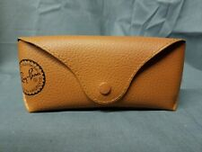 Ray-Ban Brown Leather Snap Case Medium Size with Cleaning Cloth FREE SHIPPING!