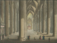 Interior View, Milan Cathedral – Original early 19th-century engraving print