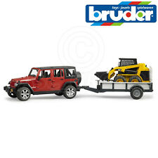 Bruder Toys 02925 Jeep Wrangler Rubicon + Trailer + Cat Skid Steer Loader 1:16