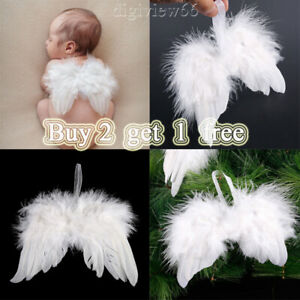 Feather White Angel Wings Wedding Christmas Baby Shower Hanging Ornements Decor