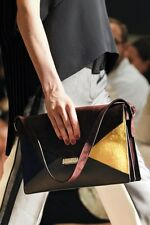 CELINE S/S 2012 RUNWAY Diamond Envelope Suede Pony Calfskin Shoulder Bag Purse