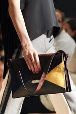 CELINE S/S 2012 RUNWAY Diamond Envelope Suede Pony Calfskin Shoulder Bag Purse
