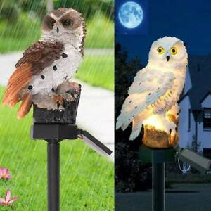 Owl Solar Powered Garden Light LED Outdoor Ornament Lawn Waterproof Novelty Lamp