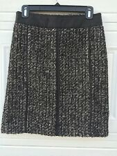 Max & Co Max Mara Skirt Sz 6 Black Cream Boucle Pencil Slim Office Career Wool