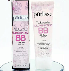 Purlisse Radiant Glow Illuminating BB Cream SPF 30 Full Size 40 ml  READ DESCRIP