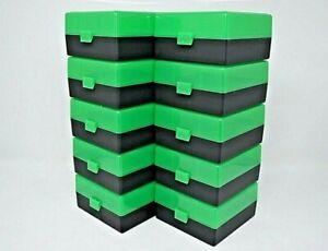 BERRY'S PLASTIC AMMO BOXES (10) GREEN-BLACK 100 ROUND 223 / 5.56 NEW ITEM