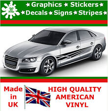 "10"" High Car Side Stripes Graphic Decal Vinyl Sticker Van Auto Rally Race F2_33"