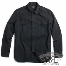 RRL Ralph Lauren  Vintage Inspired G.I. MILITARY COTTON WORK SHIRT-MEN- M