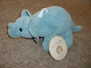 "KellyBaby Kelly Baby Plush Blue Dinosaur Toy Infant Stuffed Animal Boys 14"" NWT"