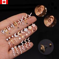1PC Cz Ear Studs Piercing Star Tragus Earring Cartilage Helix Ear Bone jewelry