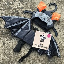 "HALLOWEEN BAT ""Black"" Fun Novelty Dog Costume Outfit (MEDIUM) 33cm **NEW**"