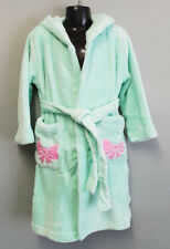 BNWT Girls Size 6 Soft Fluffy Mint Green Dressing Gown With Hood
