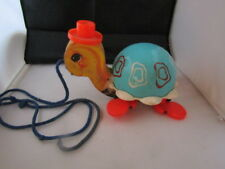 Vintage 1962 Fisher Price Tip Toe Turtle Pull Toy #773 Excellent Condition