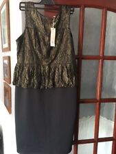 Ladies Dorothy Perkins Black Going Out Party Dress Size 16